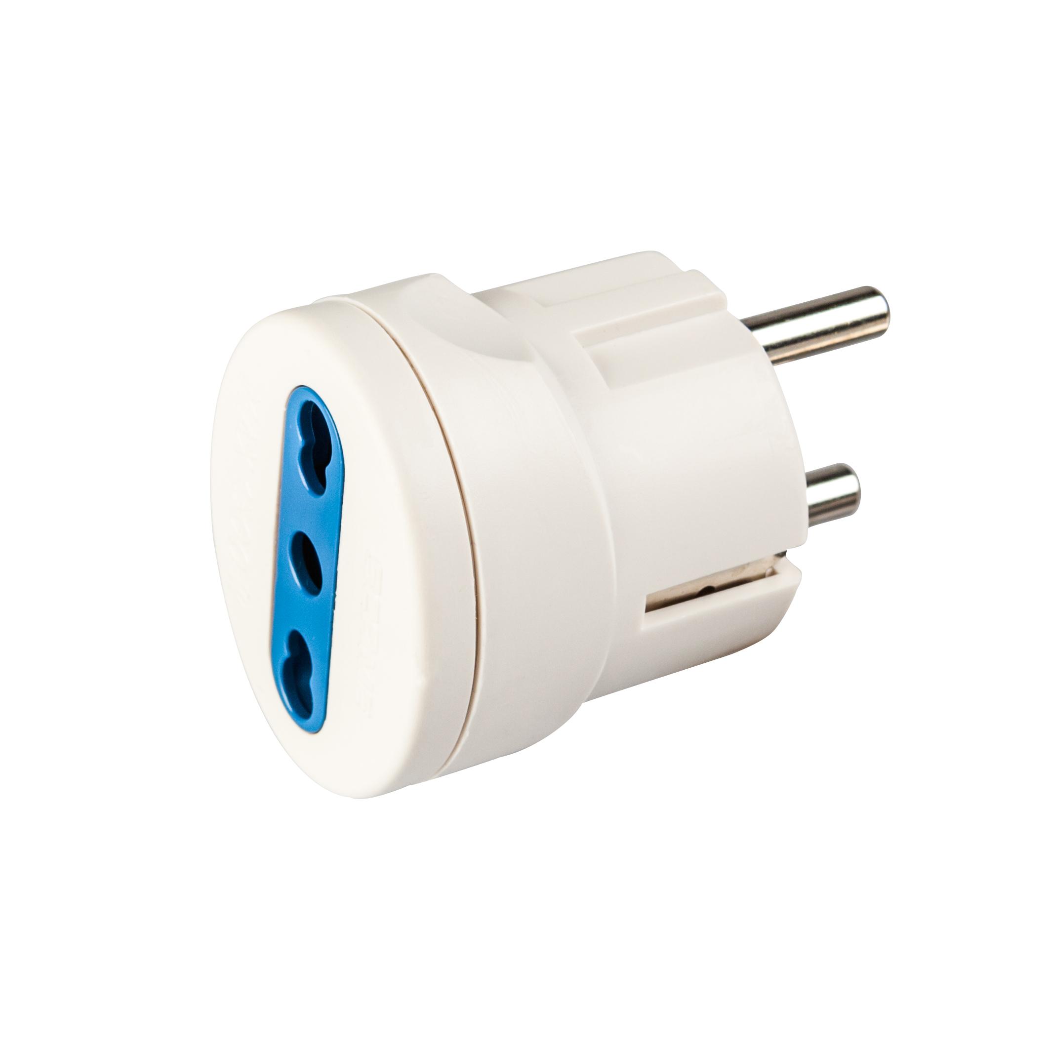 Poly Pool PP0451 adattatore per presa di corrente Tipo L (IT) Universale Blu, Bianco