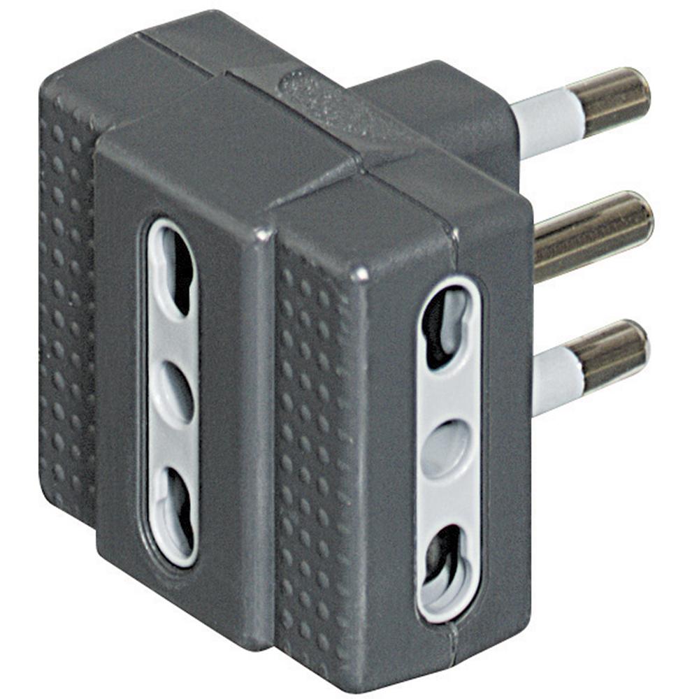 bticino S3604G adattatore per presa di corrente Tipo L (IT) Grigio, Bianco
