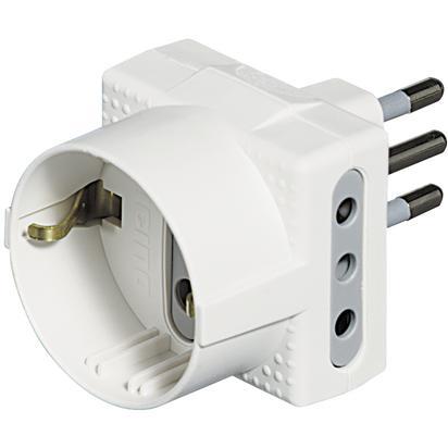 bticino S3610D adattatore per presa di corrente Bianco
