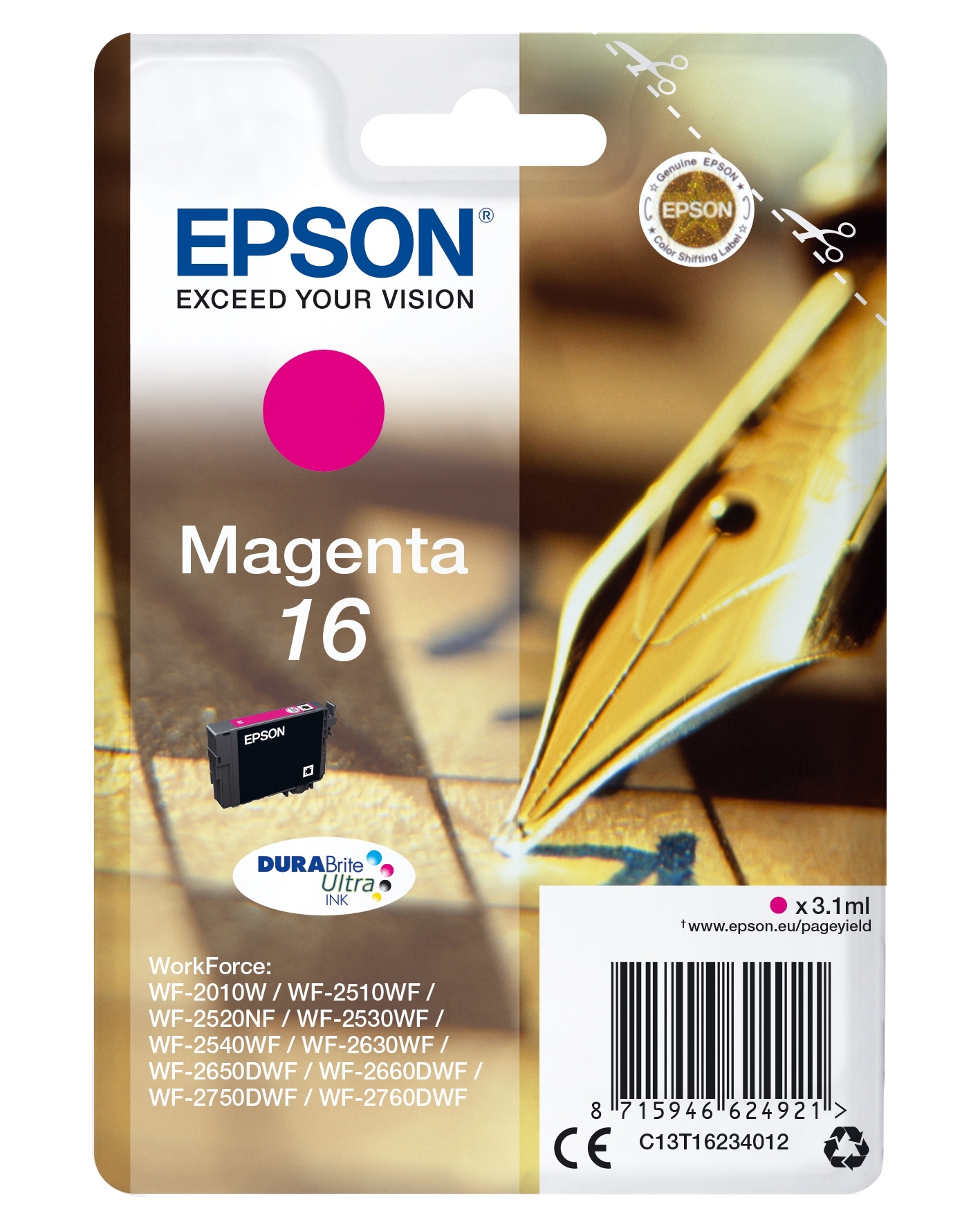 Epson Pen and crossword Cartuccia Penna e cruciverba Magenta Inchiostri DURABrite Ultra 16