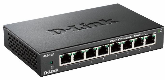 D-Link DES-108 Nero