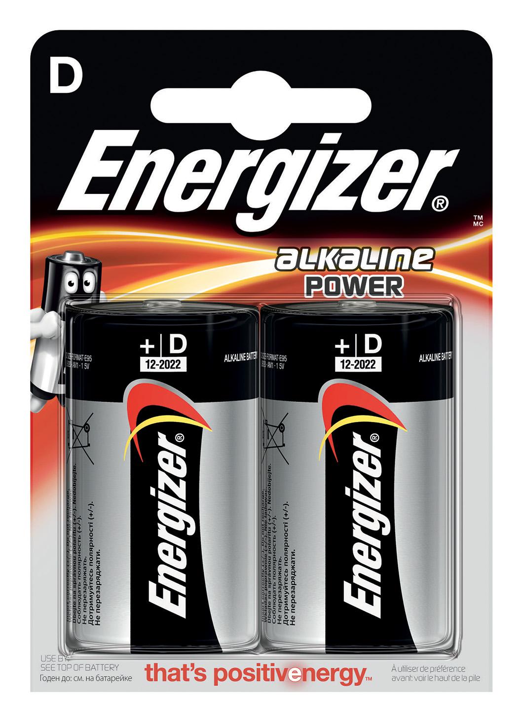 Energizer Alkaline Power D Batteria monouso Alcalino