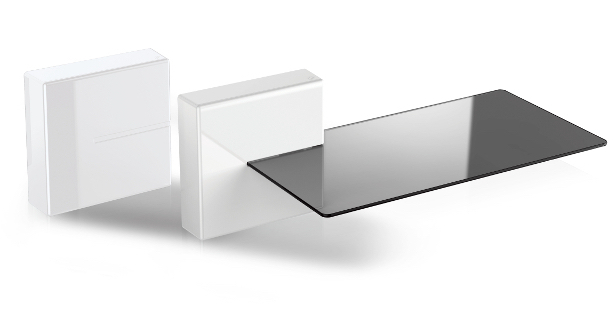 Meliconi 480522 BA Mensola modulare A muro ABS sintetico, Vetro temperato Nero scaffale