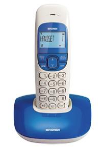 Brondi Nice Telefono DECT Blu, Bianco Identificatore di chiamata