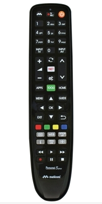 Meliconi Personal 6 Plus telecomando IR Wireless TV Pulsanti