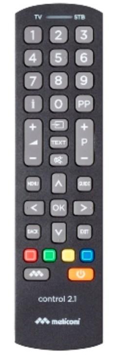 Meliconi Control 2.1 telecomando IR Wireless STB,TV Pulsanti