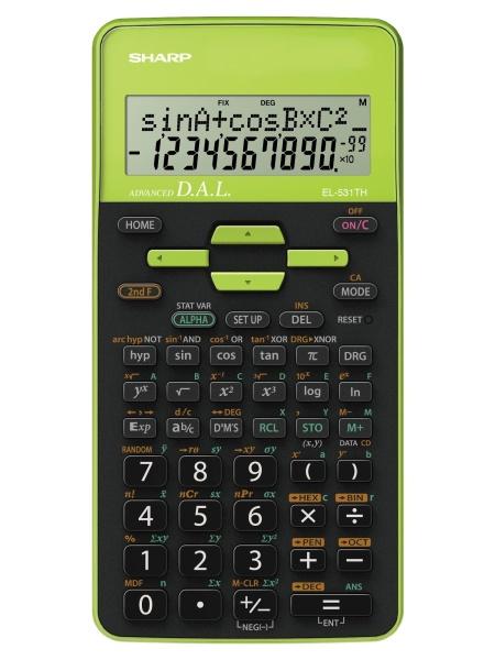 Sharp EL-531TH calcolatrice Tasca Calcolatrice scientifica Nero, Verde