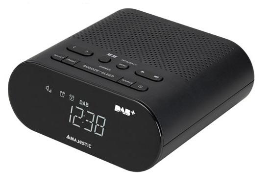 New Majestic RS-116 DAB radio Orologio Digitale Nero