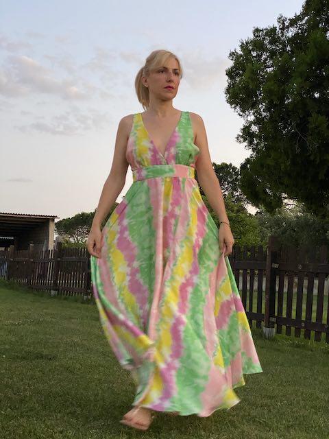 Abito Lungo Vicolo fantasia Tie Dye Taglia M