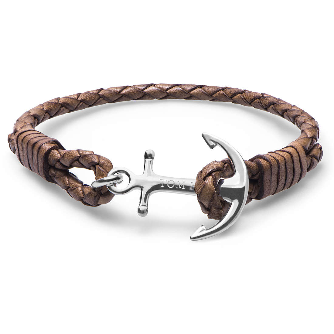 Bracciale unisex Tom Hope. Cognac