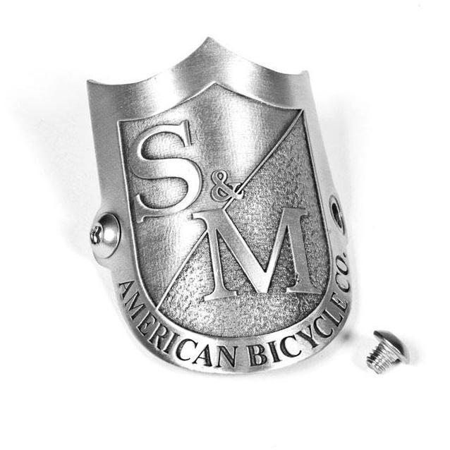 S&M Shield Headtube  Colore Silver