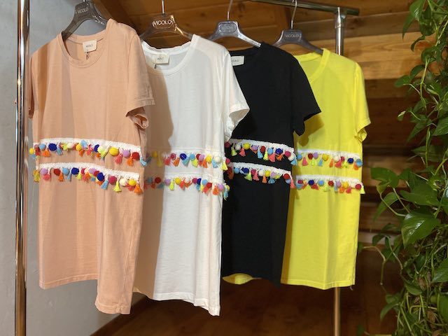 Tshirt Vicolo con Nappine Colorate