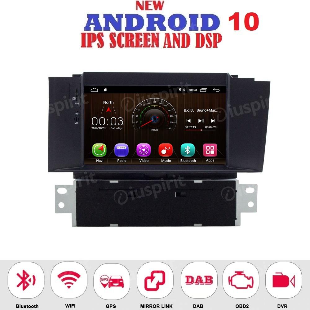 ANDROID 10 autoradio navigatore per Citroen C4 C4L DS4 2012-2016 GPS DVD USB WI-FI Bluetooth Mirrorlink