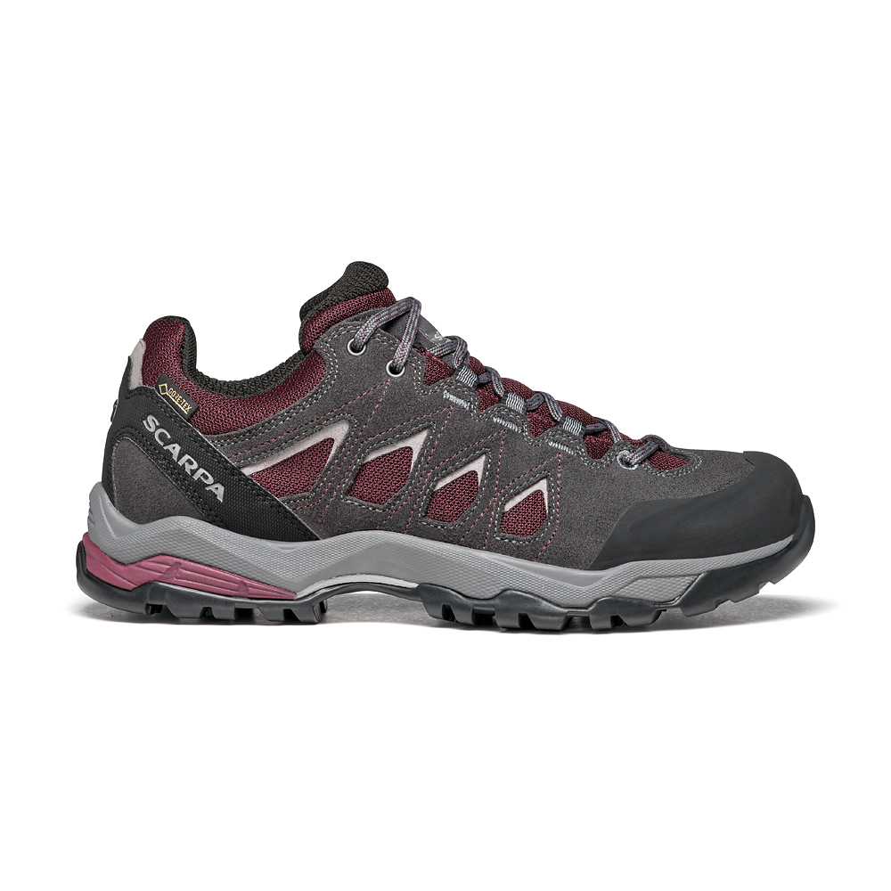 MORAINE GTX WOMAN   -   Hiking lunghe camminate, uso cittadino, Impermeabile   -   Eggplant-Storm Gray-Light Gray