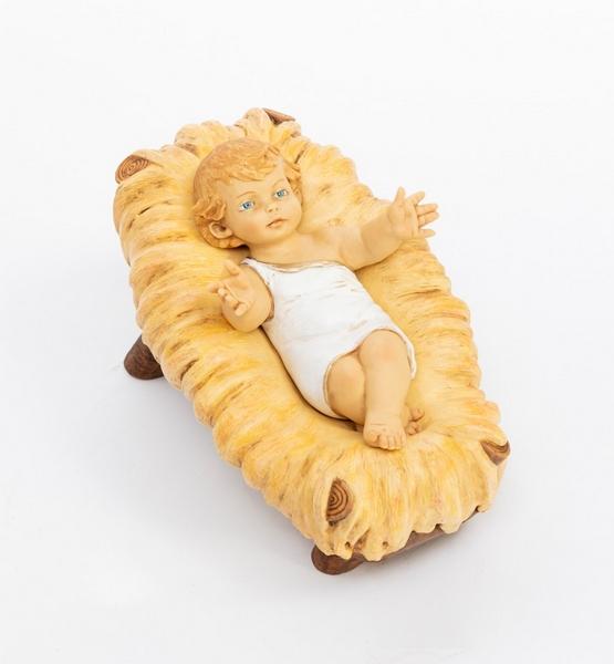 Gesù Bambino in culla resina cm. 85