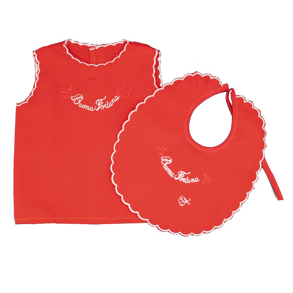 camicino fortuna seta rosso