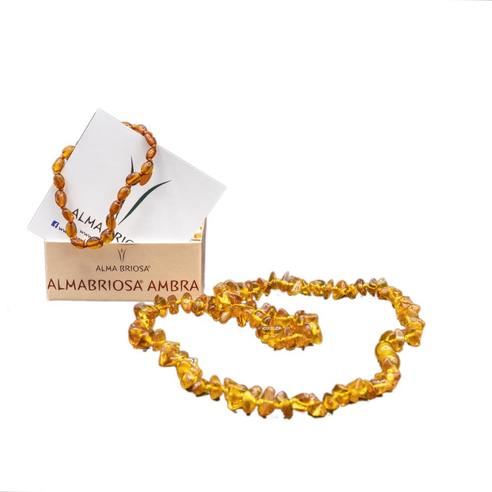 collana e braccialetto ambra