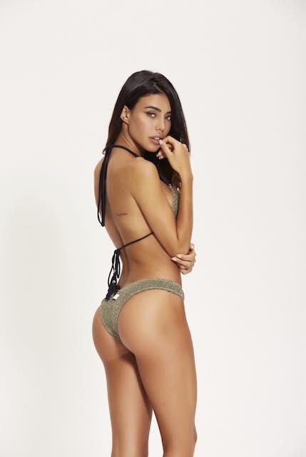 Bikini Triangolo Goffrato Lurex Cotazur