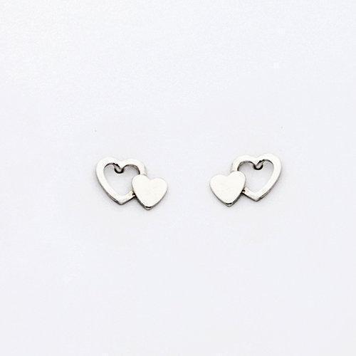 By Simon - Orecchini in argento a forma di cuore, art: 1101567