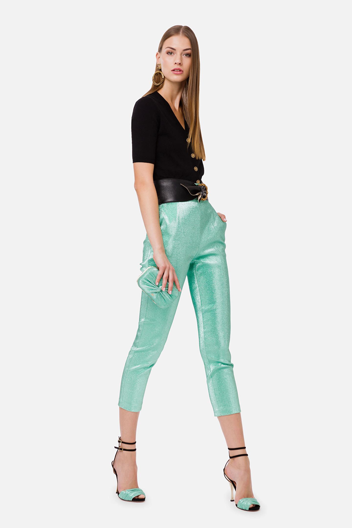 Pantalone Donna Elisabetta Franchi PA32702E2 Y04TIFFANY  -19