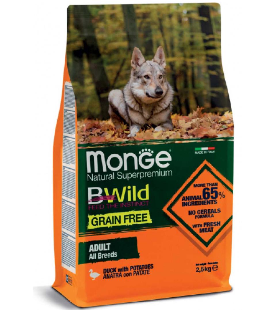 Monge - BWild Grain Free - All Breeds Adult 12 kg x 2 sacchi