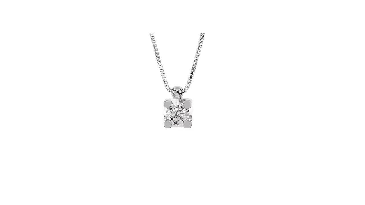 Collana Punto Luce Freelight, in Oro 18kt con Diamante di Laboratorio Certificato