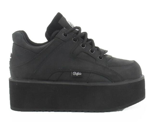 Buffalo Sneakers Donna 1330-6 NEGRO NUBUK  -17
