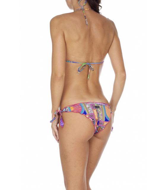 Bikini triangolo Frou Frou e slip nodi regolabile Indian Sun Changit