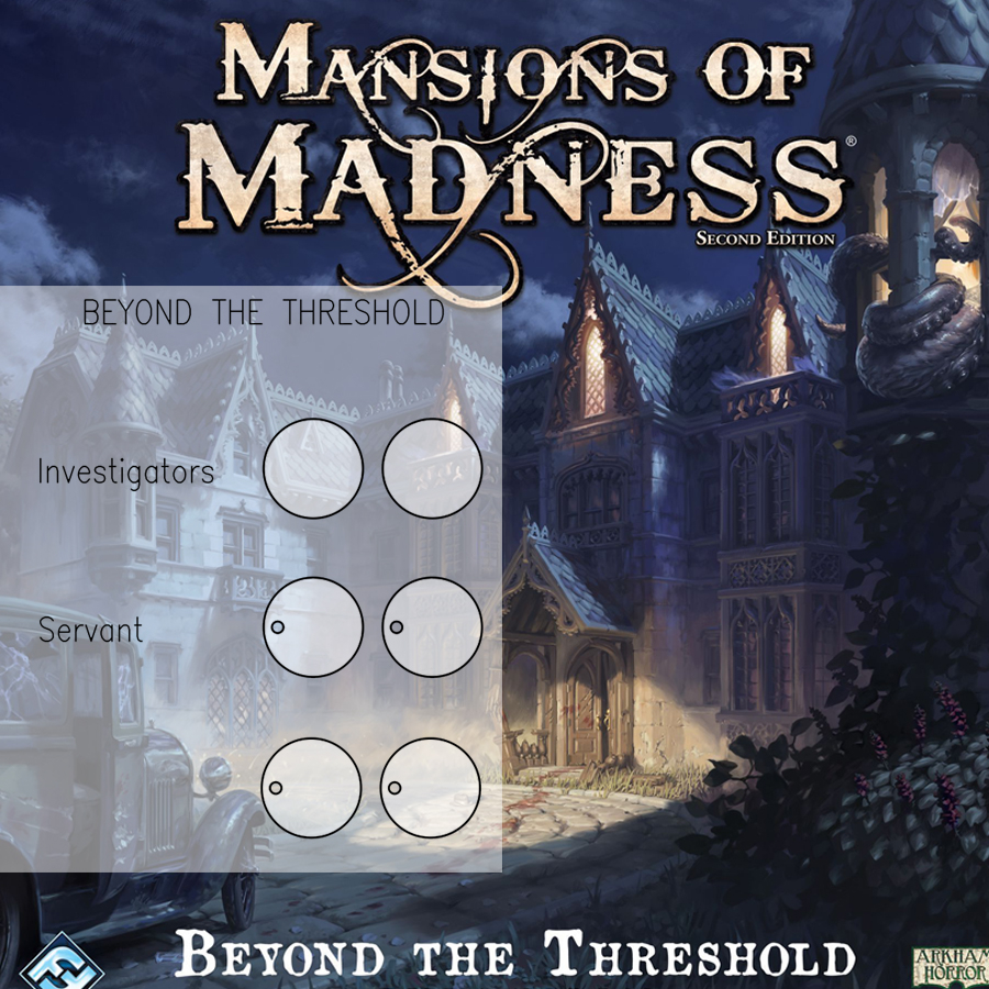 Mansions of Madness 2nd Ed. Beyond the Threshold Clear Bases (x6)