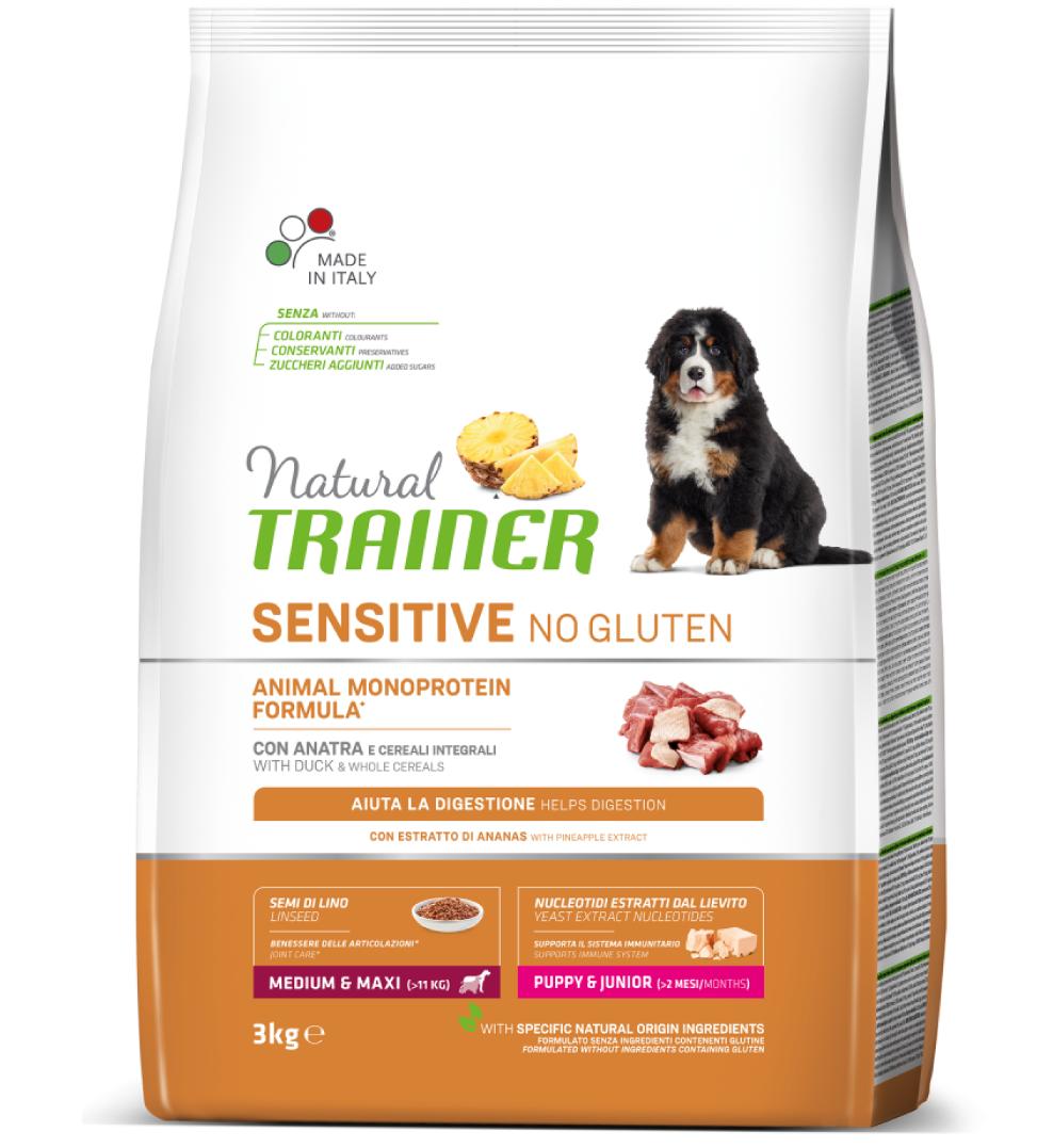 Trainer Natural Sensitive - Medium/Maxi - Puppy&Junior - 3 kg