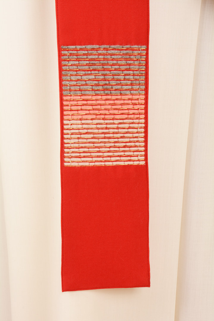 Casula C87T rossa Sallia di Pura Lana