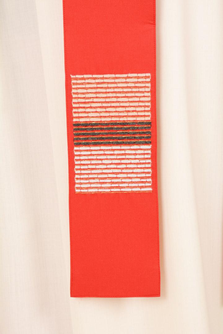 Casula C90T rossa Sallia di Pura Lana