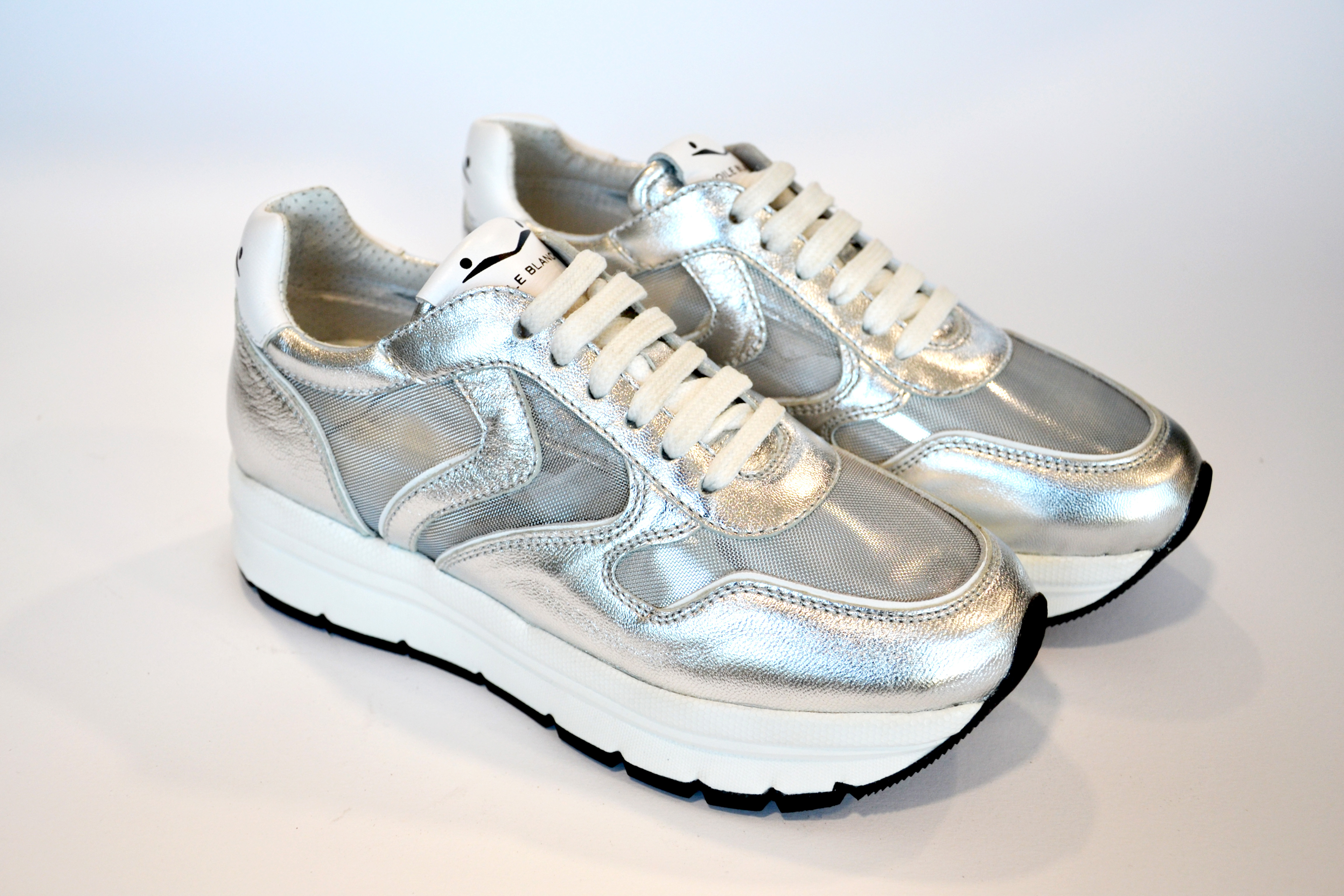 Voile Blanche Scarpa Donna Sneakers May Mesh Nappa Lux/Tulle Argento 0012013506.03.0Q04