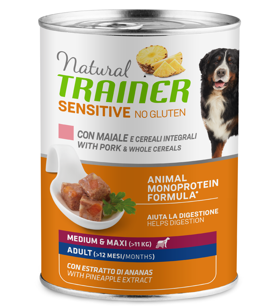 Trainer Natural Sensitive - Medium/Maxi - 400g x 12 lattine