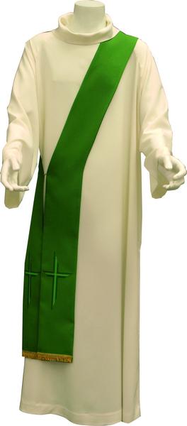 Stola diaconale ricamo croce
