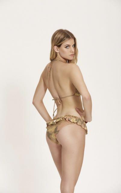 Bikini Triangolo lurex Camouflage Cotzur S e L