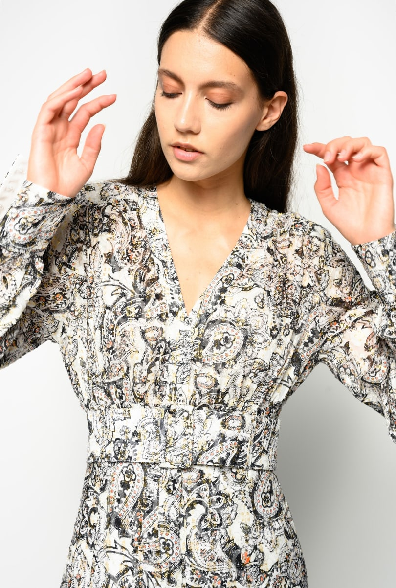 SHOPPING ON LINE PINKO ABITO LUNGO STAMPA COSTANTINO NEW COLLECTION WOMEN'S FALL WINTER 2020/21