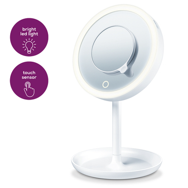Beurer BS 45 specchietto per trucco Libera installazione Rotondo Bianco