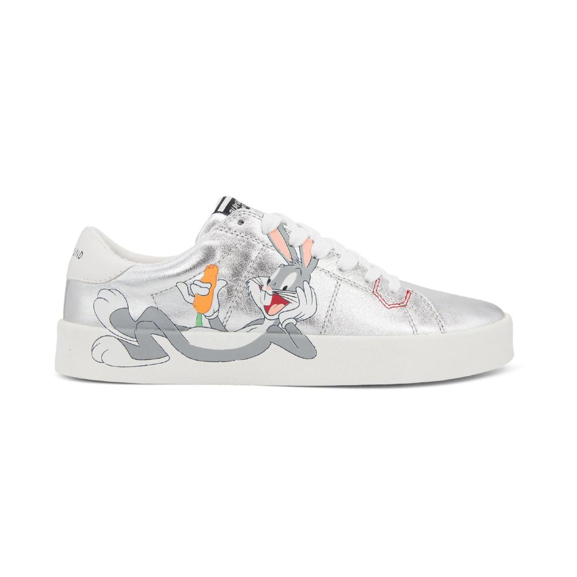 Sneaker argento metallizzata Looney Tunes Playground