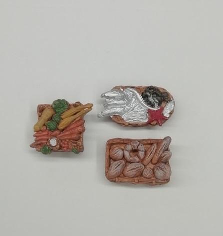 Set 3 cassette frutta/pesci/verdura in pvc