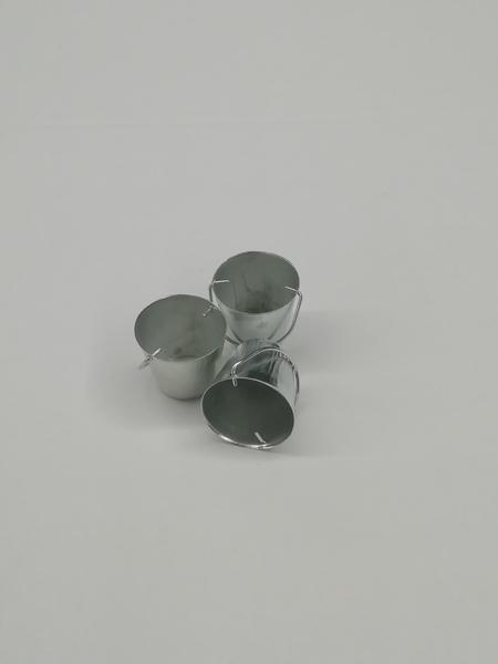 Set 3 secchi color argento