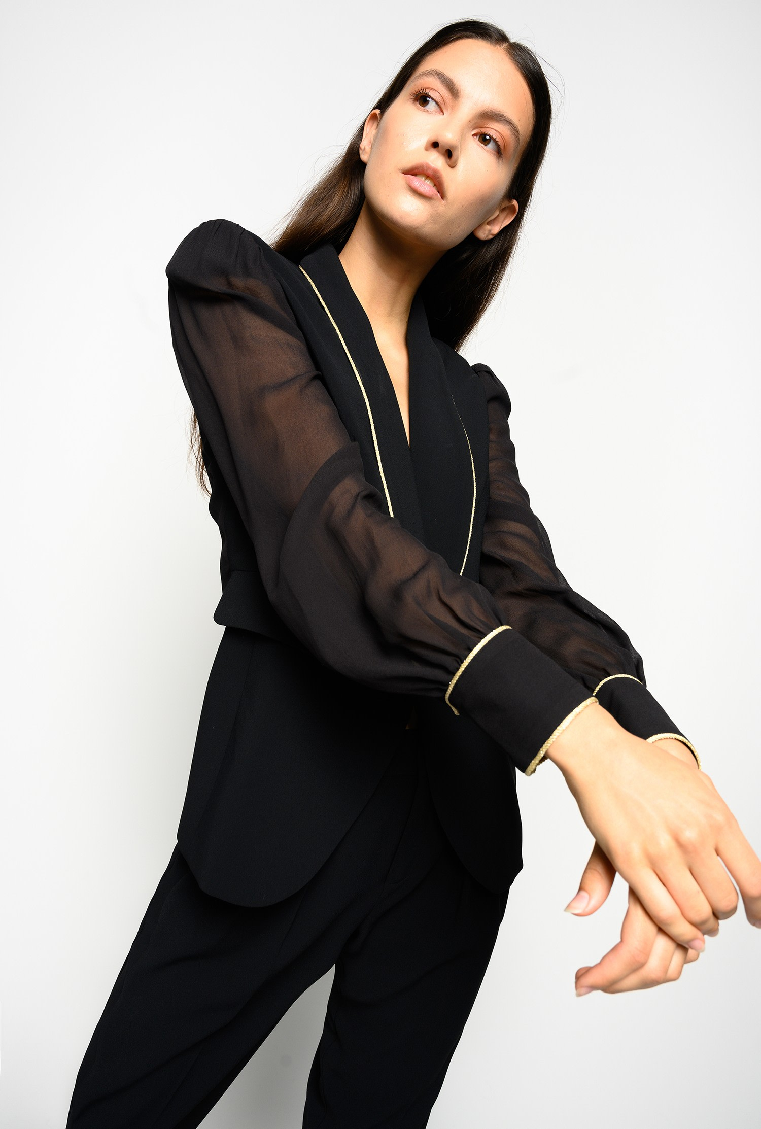 SHOPPING ON LINE PINKO BLAZER IN CRÊPE E GEORGETTE NESTORE NEW COLLECTION WOMEN'S FALL WINTER 2020/2021