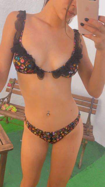 Bikini triangolo e slip fianco fisso Folk Changit