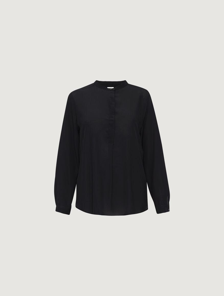 Camicia in seta nera - Monocromo di Marella