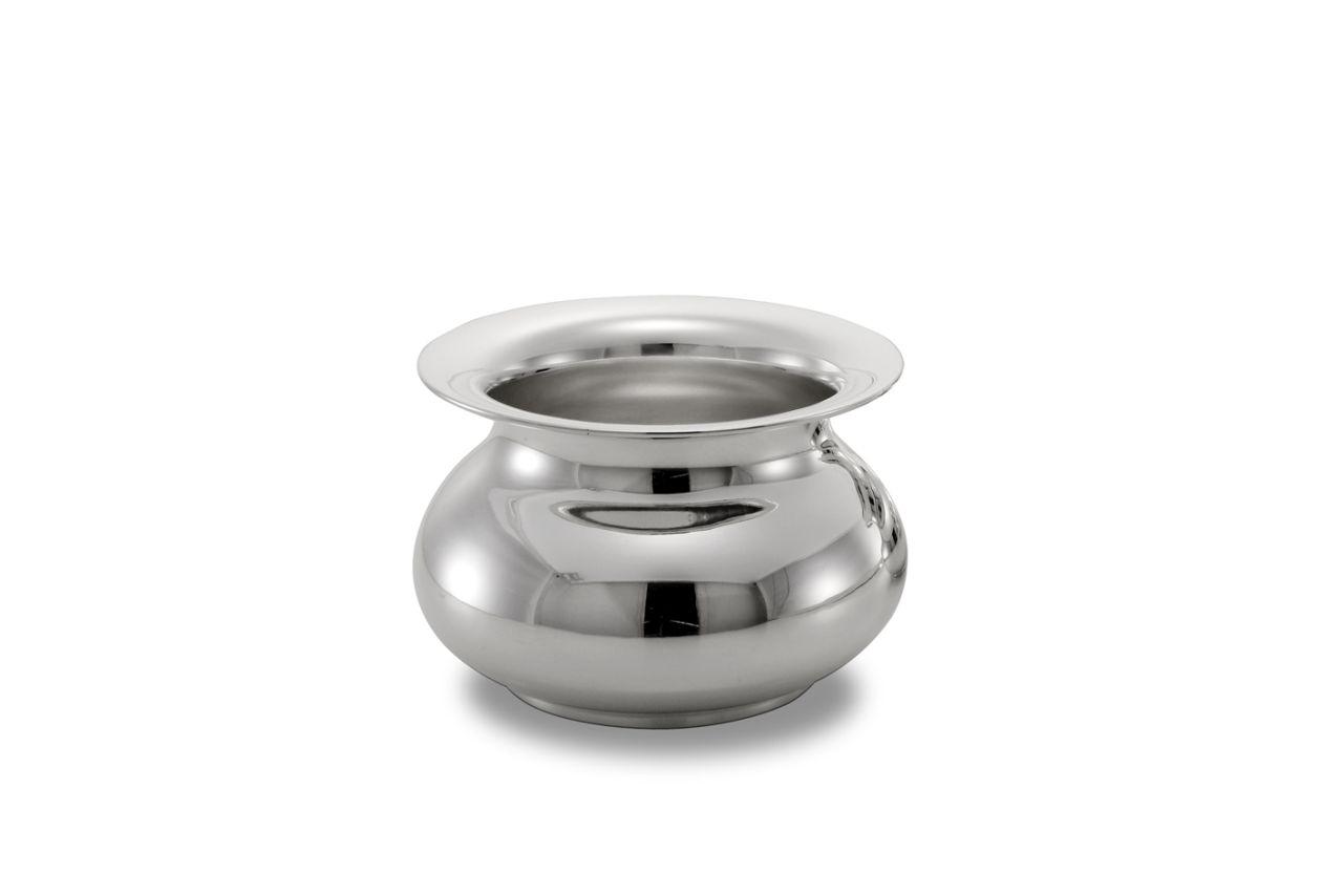 Vaso, cachepot, placcato argento cm.13h diam.19