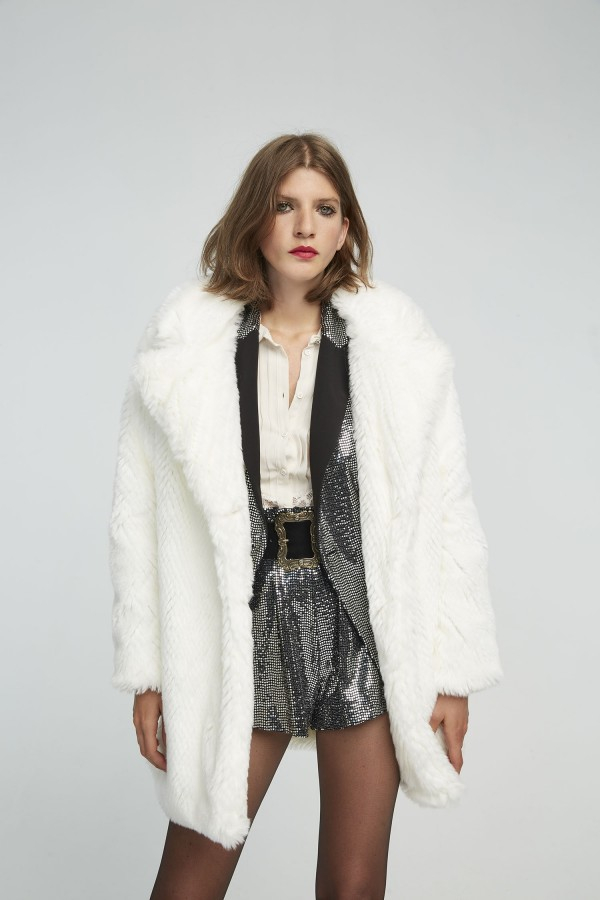 SHOPPING ON LINE ANIYE BY ECO-FUR LULA BIANCO E NERO NEW COLLECTION WOMEN'S FALL WINTER 2020/2021