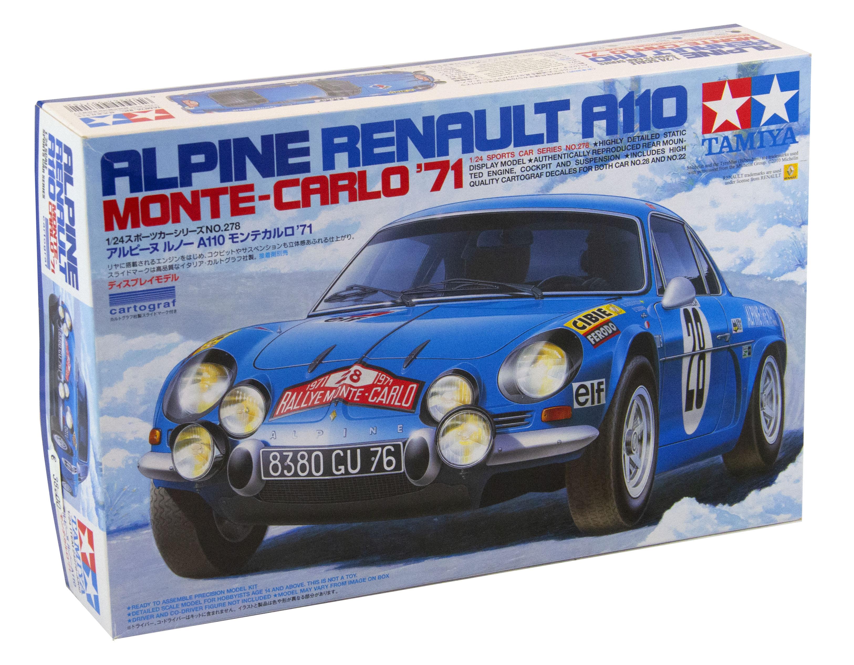 Alpine Renault A110 Monte Carlo 1971   1/24 Scale Model KIT
