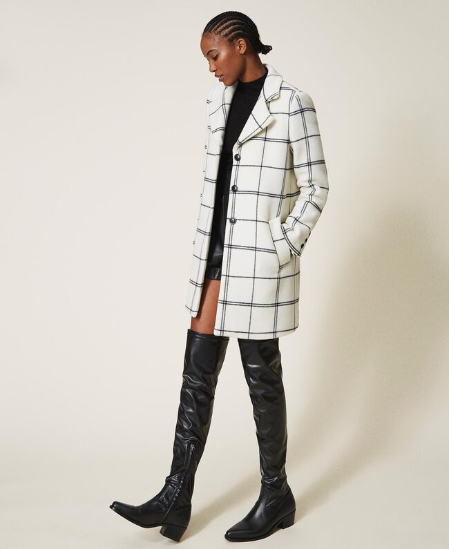 SHOPPING ON LINE TWINSET MILANO CAPPOTTO IN PANNO JACQUARD NEW COLLECTION WOMEN'S FALL WINTER 2020/2021