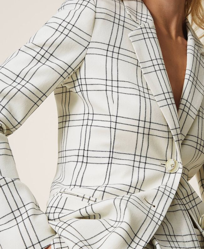 SHOPPING ON LINE TWINSET MILANO GIACCA BLAZER IN MISTO LANA CHECK NEW COLLECTION WOMEN'S FALL WINTER 2020/2021
