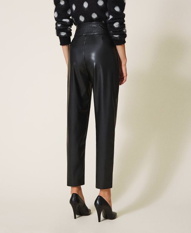 SHOPPING ON LINE TWINSET MILANO PANTALONI IN SIMILPELLE NEW COLLECTION WOMEN'S FALL WINTER 2020/2021